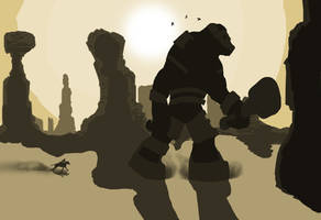 Shadow of The Colossus (fan art) by SeanHillArt