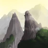 Mountain Pass by SeanHillArt