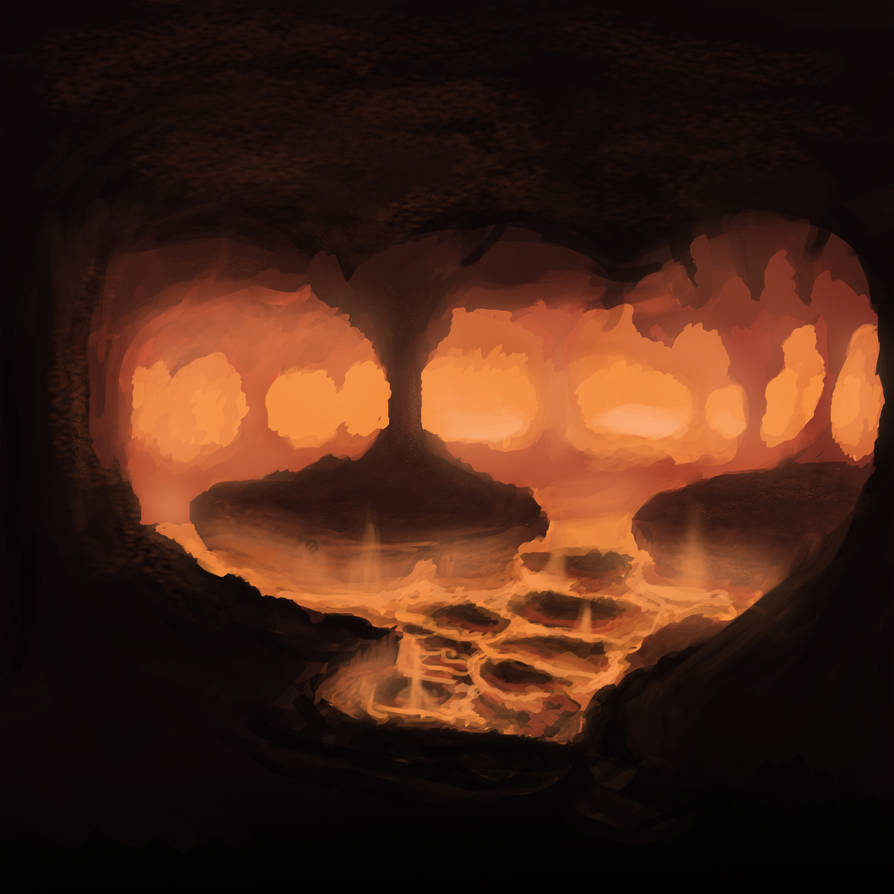 Fiery chasm by SeanHillArt