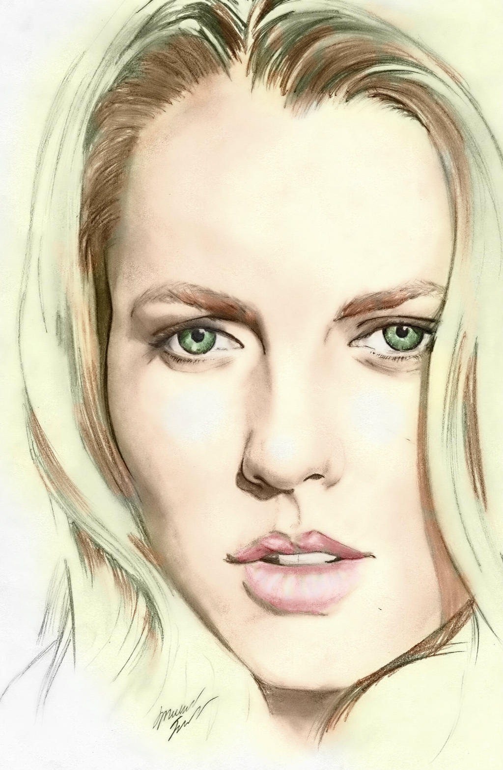 Teresa Palmer! (colored) by MichaelWarrenTaylor