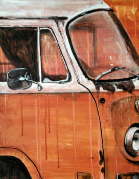 Rusty Orange Bus