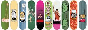 skateboard designs, random.