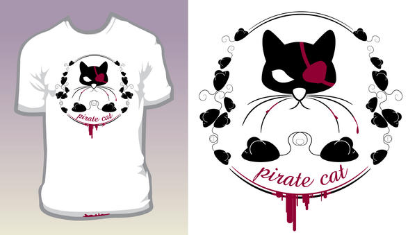 pirate cat by pixelbunny1