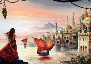 Watercolor - Orient city