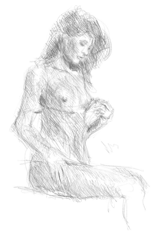 quick sketch of the day by Dandeliesque