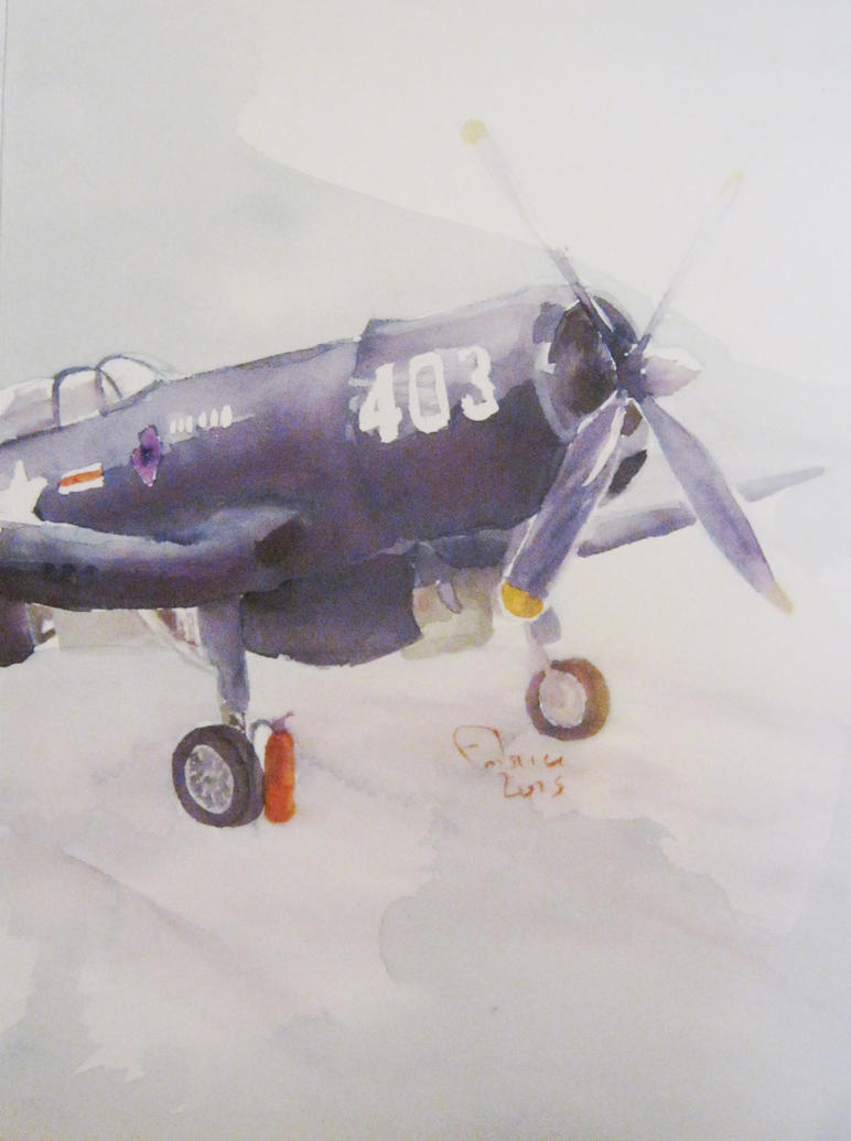 PT Corsair watercolour by Dandeliesque