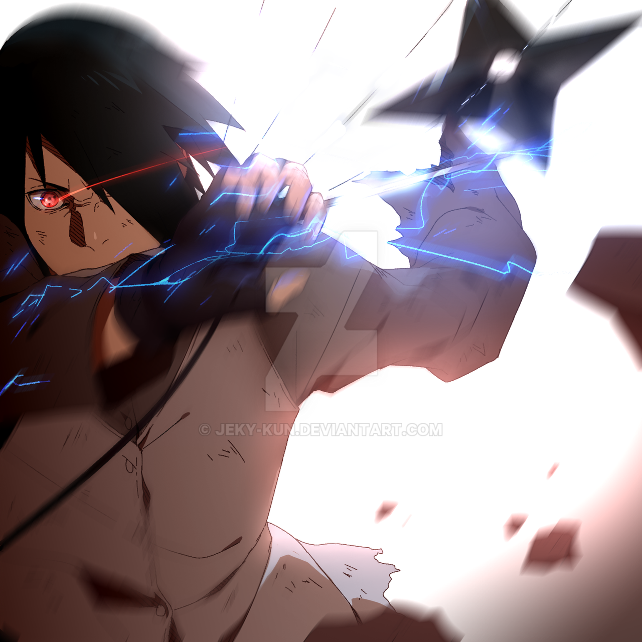 Sasuke Wakes Up By Uendy On Deviantart: Boruto Episode 65 Tribute (Sasuke FanArt) By Jeky-kun On