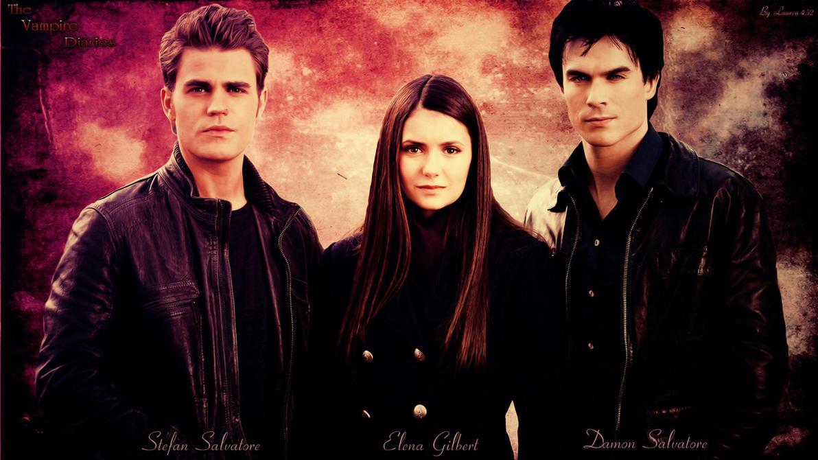Stefan/Elena/Damon by Lauren452 on DeviantArt