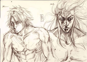 Aki and Nazim sketch by Musashi-son