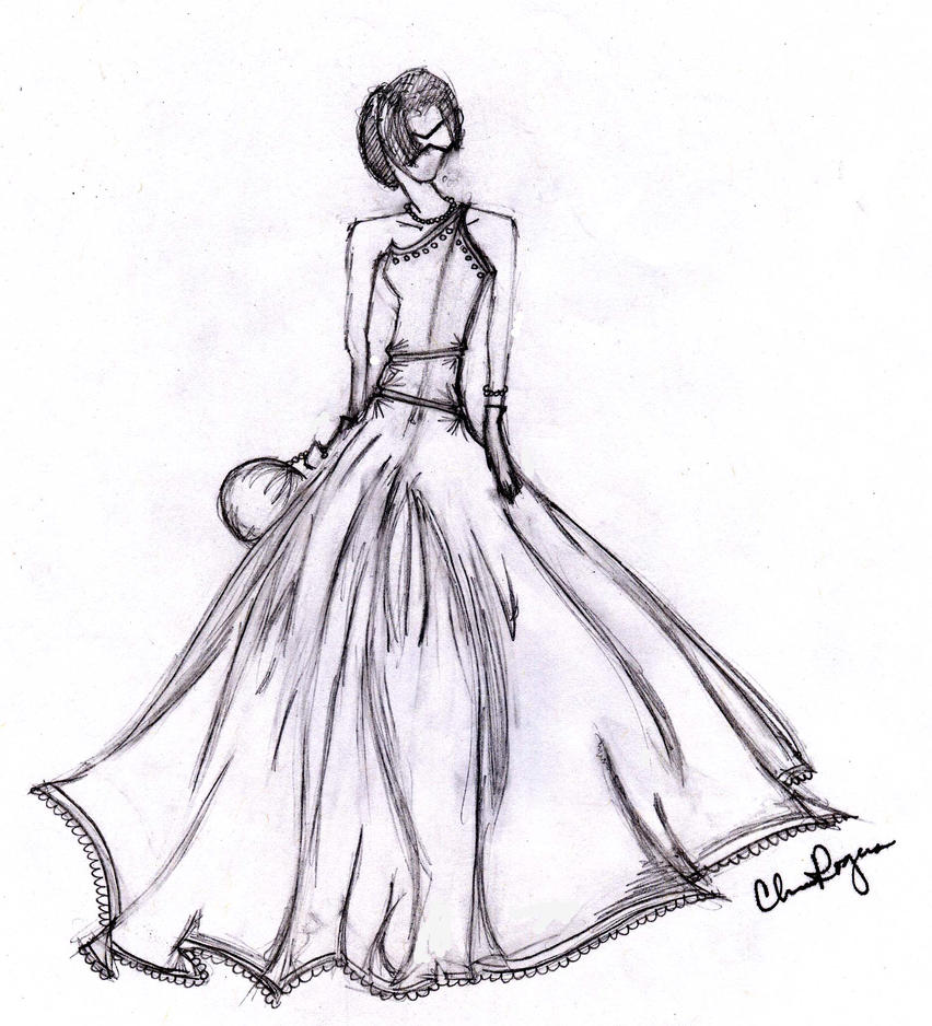 Ball Gown Sketch by cjrogers1993 on DeviantArt