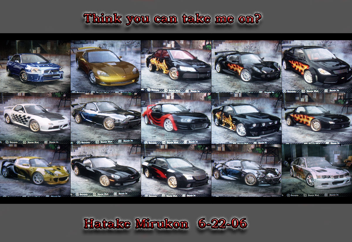 My Nfs Most Wanted Cars By Hatakemirukon On Deviantart