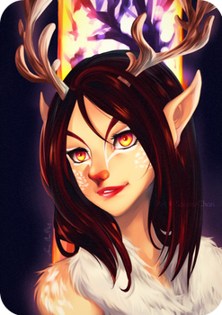 Commission - Deer Anna