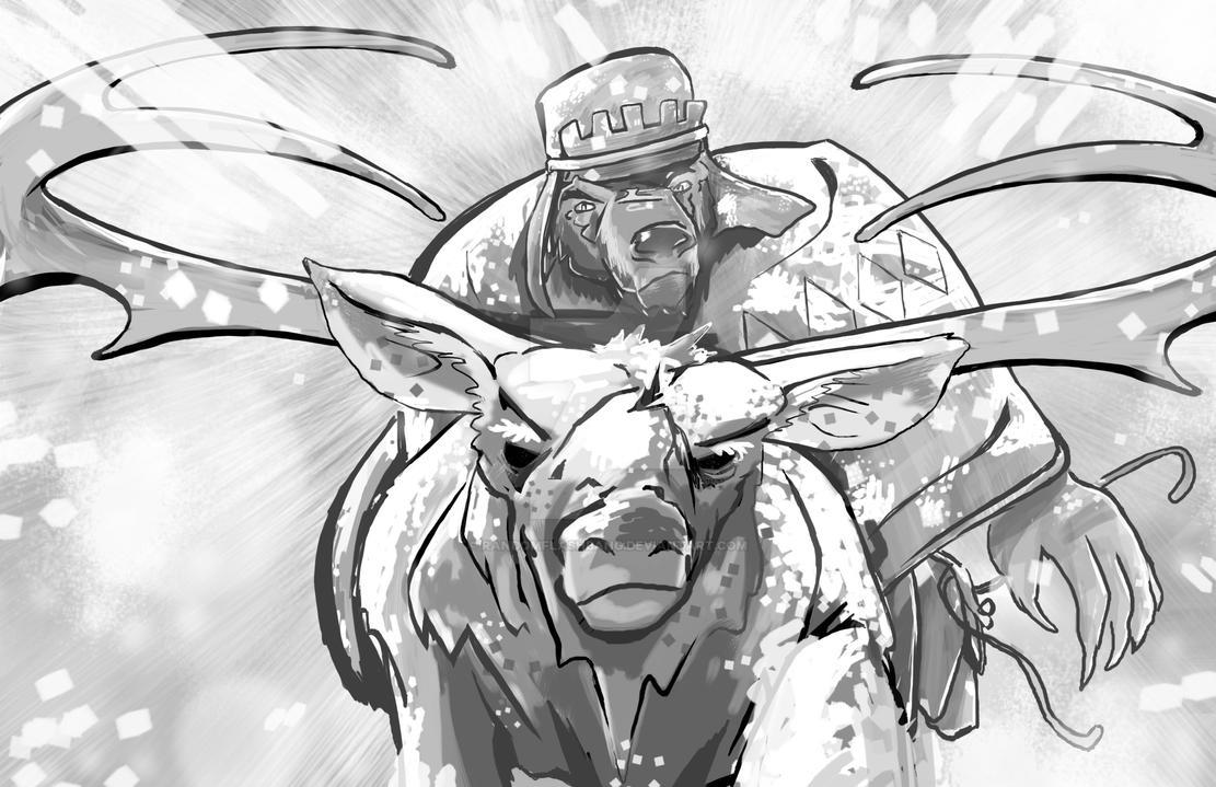 World of Aimsir - Reindeer Charge by randomflashbang