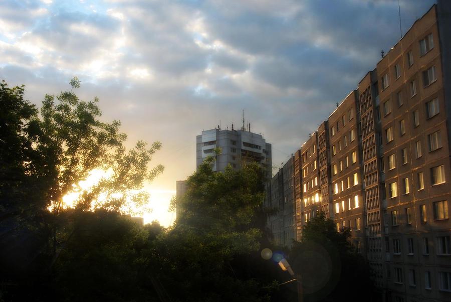 Sunset in Window by AlbinaDiamond