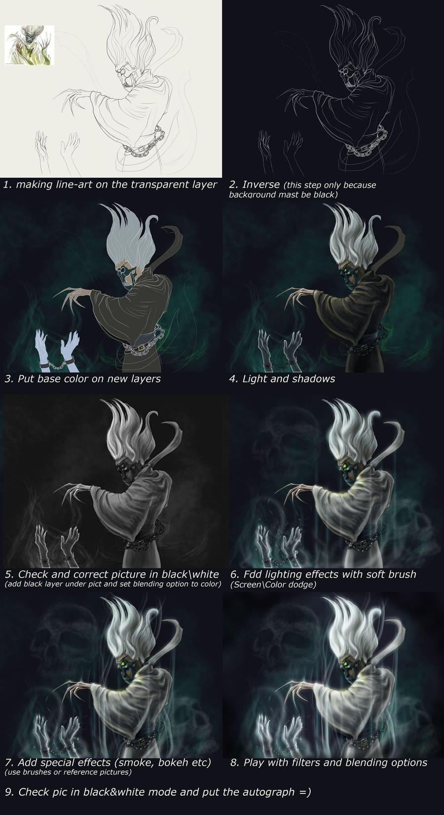 Necromancer tutorial by AlbinaDiamond