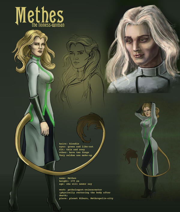 Methes character reference by AlbinaDiamond
