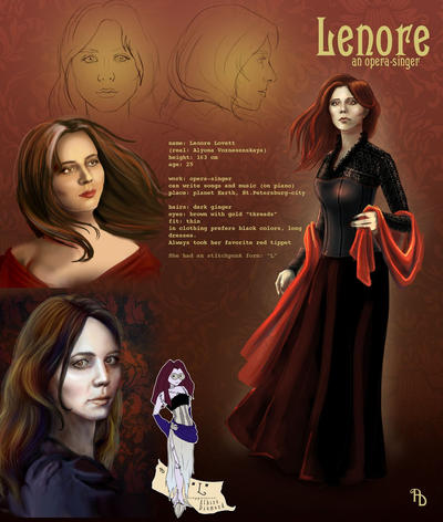 Lenore character reference by AlbinaDiamond