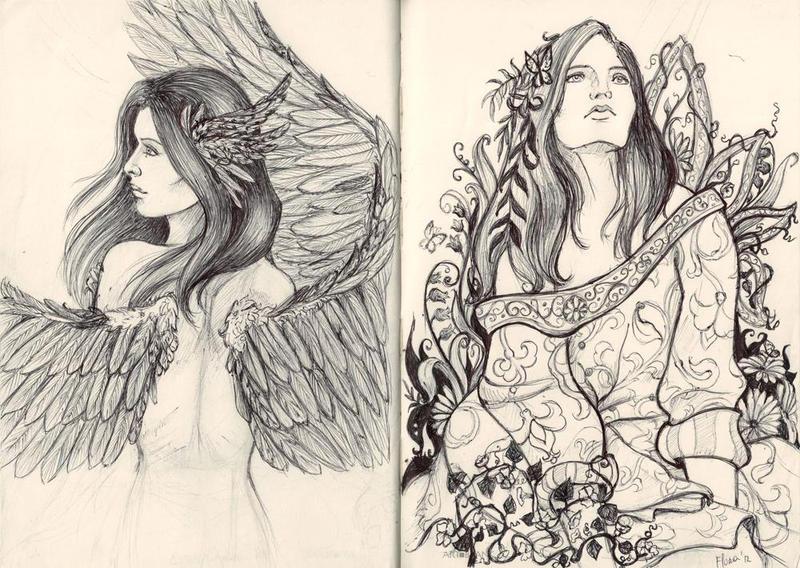 Forest girls by AlbinaDiamond