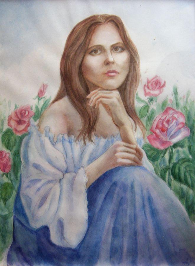 Lenore in roses by AlbinaDiamond