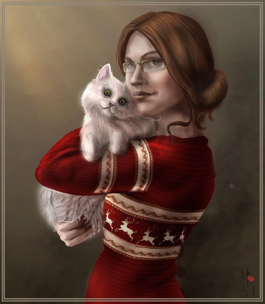 Cat and Konradain by AlbinaDiamond