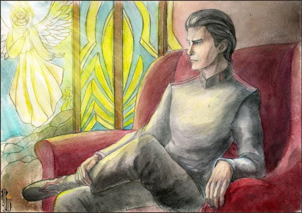 On the Light Side - potrait by AlbinaDiamond