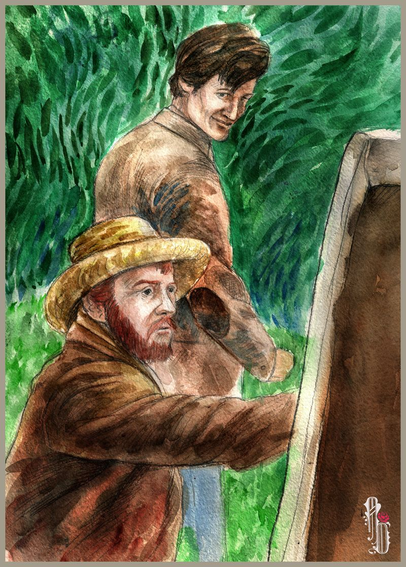 Vincent And Doctor by AlbinaDiamond