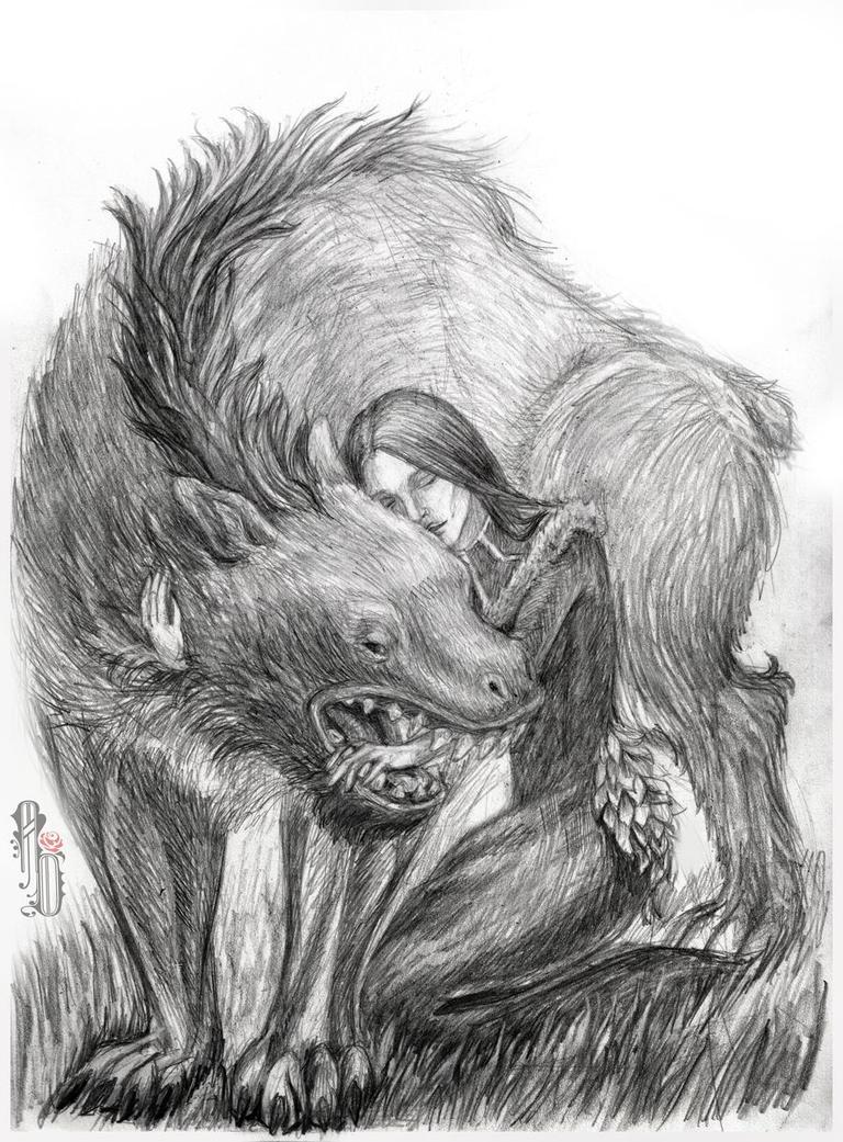 Hug a warg by AlbinaDiamond