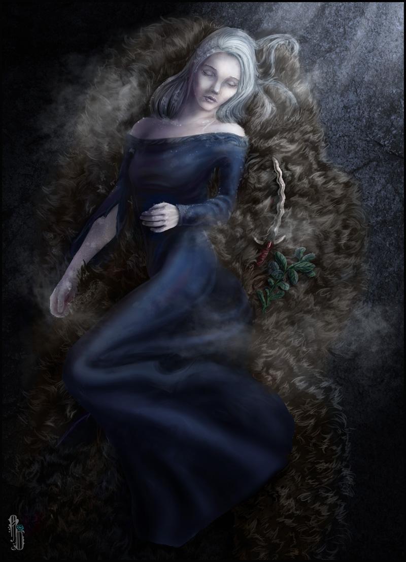 Sleeping in Frost by AlbinaDiamond
