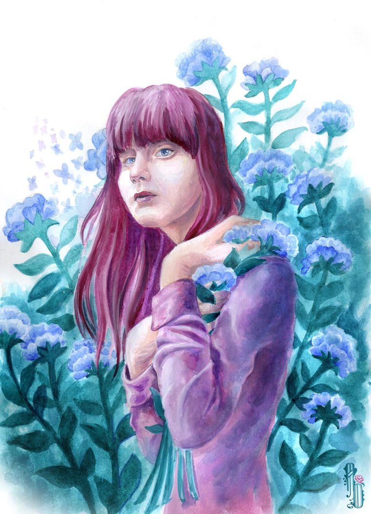 Charlotte In Garden by AlbinaDiamond
