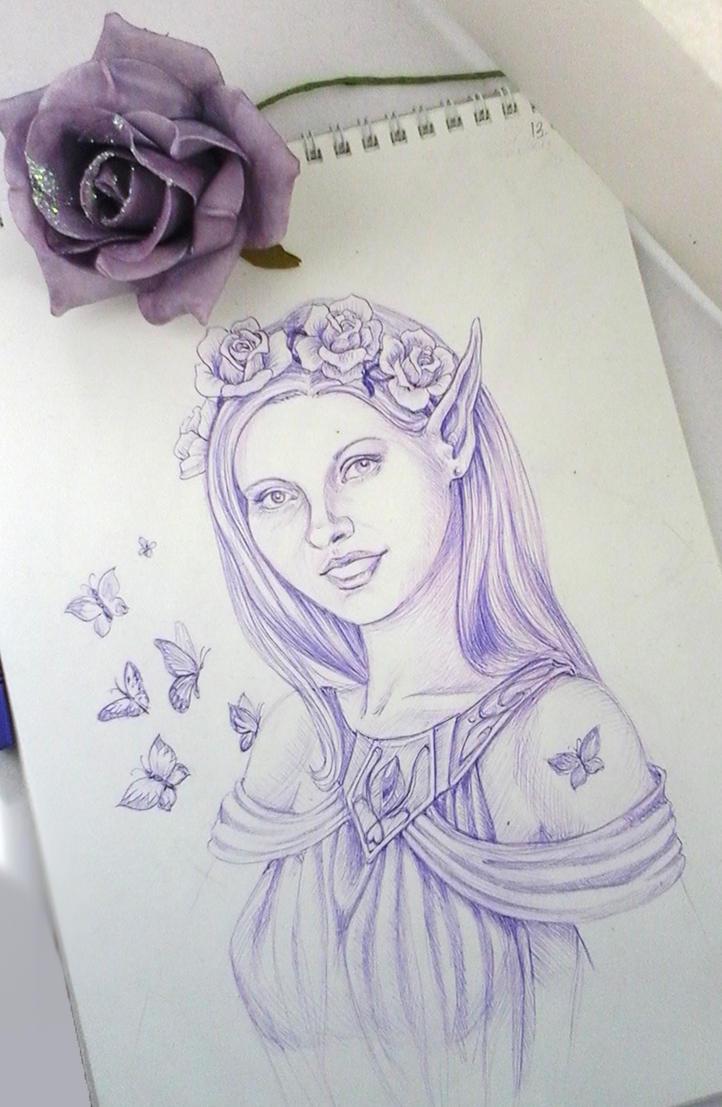 Violet gift by AlbinaDiamond