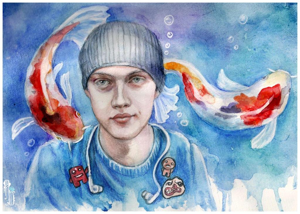 My bro portrait by AlbinaDiamond
