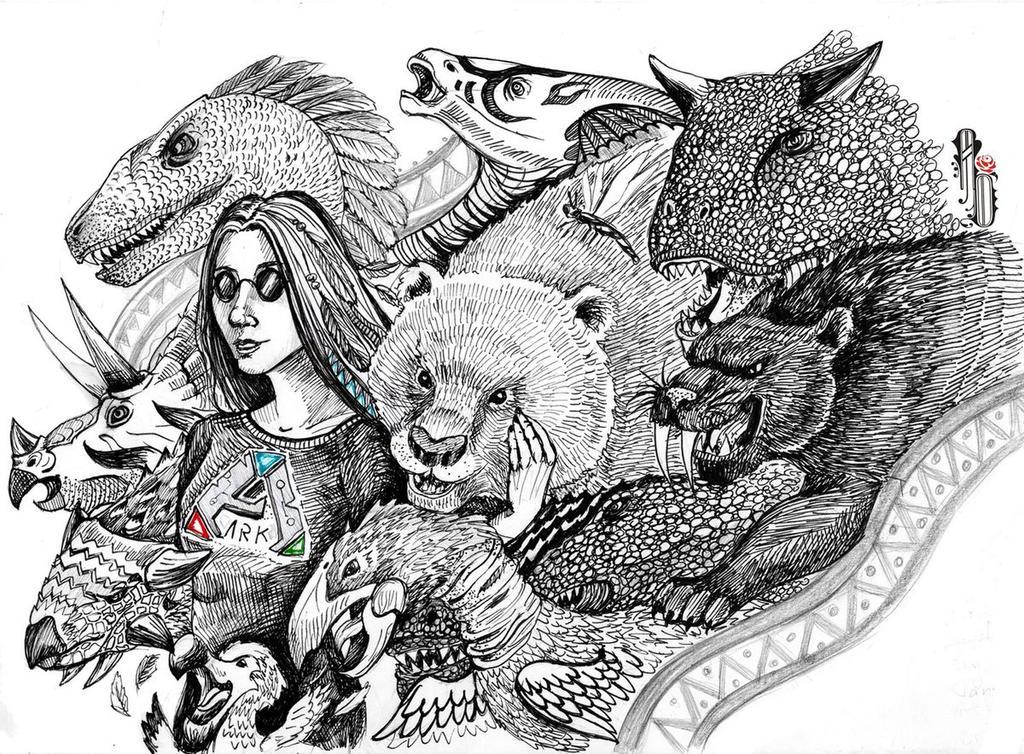 ARK Survival evolved fan-girl by AlbinaDiamond