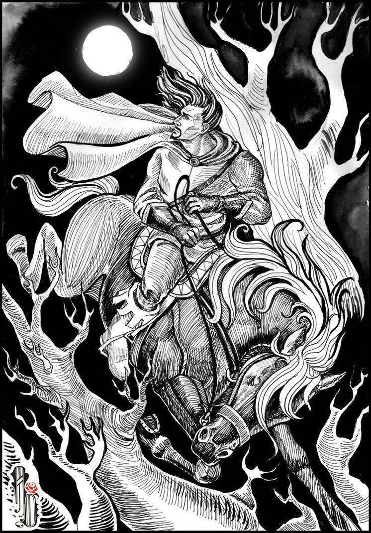 Moon Rider by AlbinaDiamond