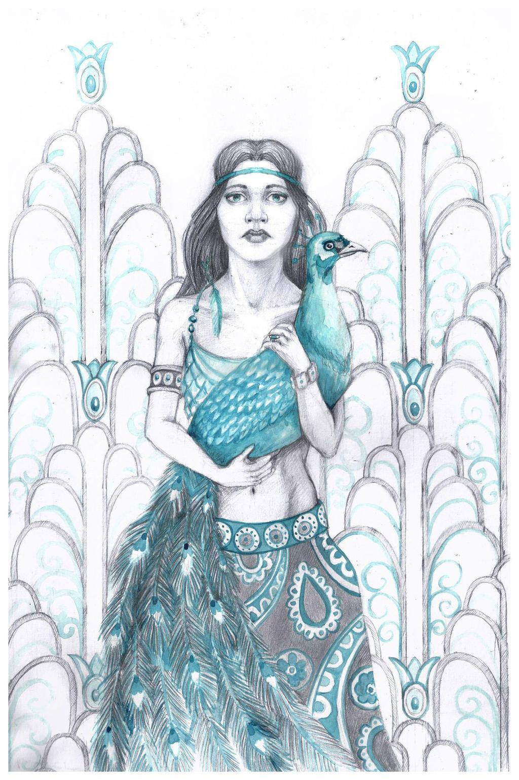 Peacock in Azure by AlbinaDiamond