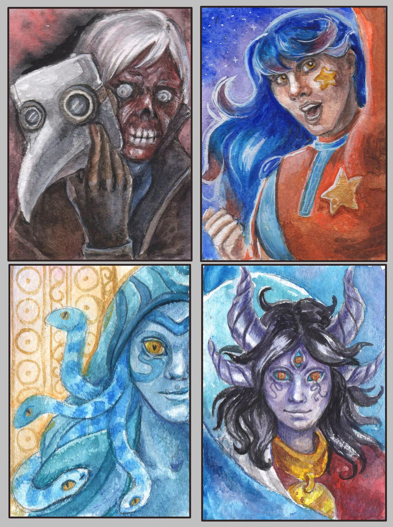 ACEO cards for TiamatArt by AlbinaDiamond