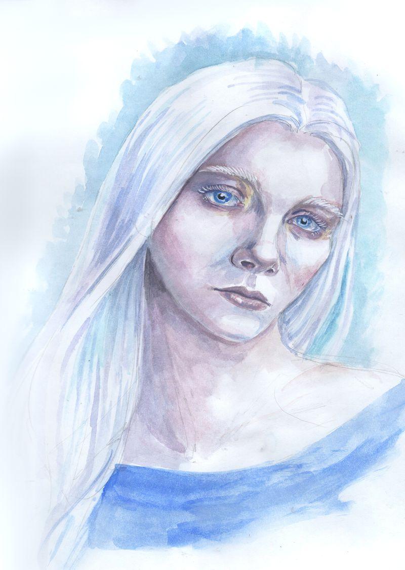 Gabrielle frost portrait by AlbinaDiamond