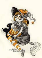 Day1 - Witch by AlbinaDiamond