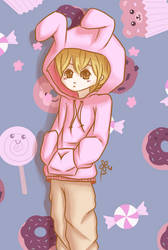 Honey-sempai dressed up as... Usa-chan?? by furowaa