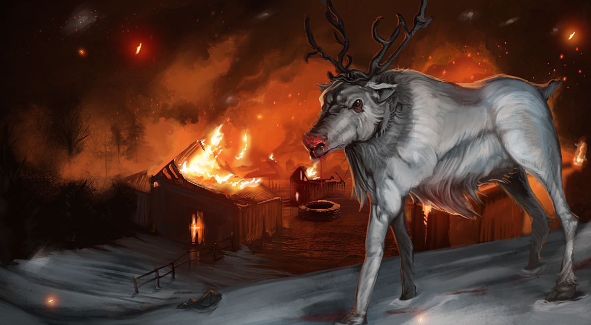Rudolph the red nose reindeer by Shattered09 on deviantART