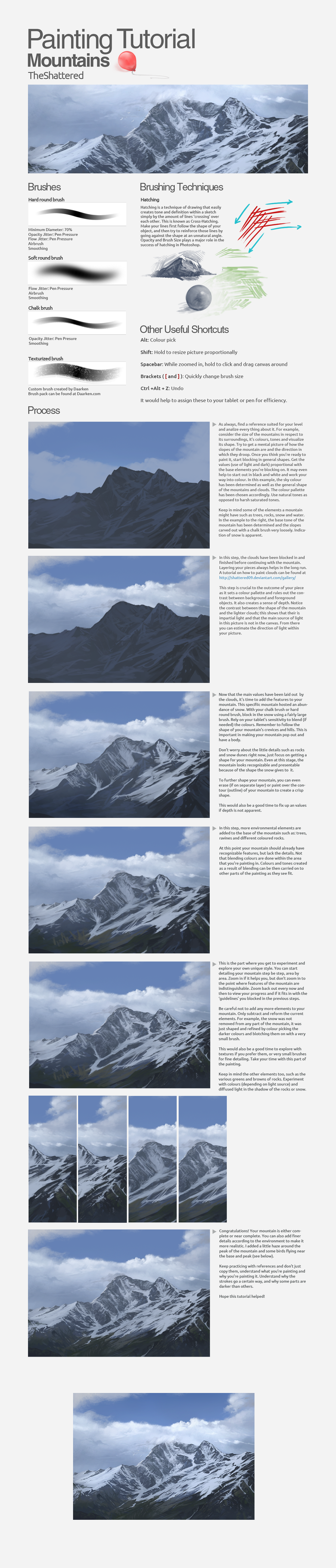 Mountains tutorial by Shattered09