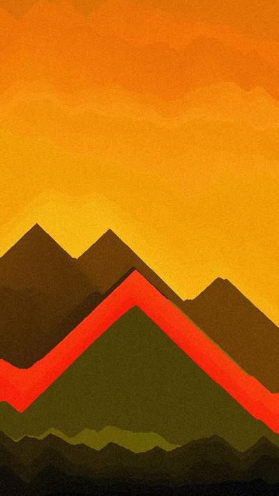 Volcanic Sunset (Simple) by TsutajaRyu