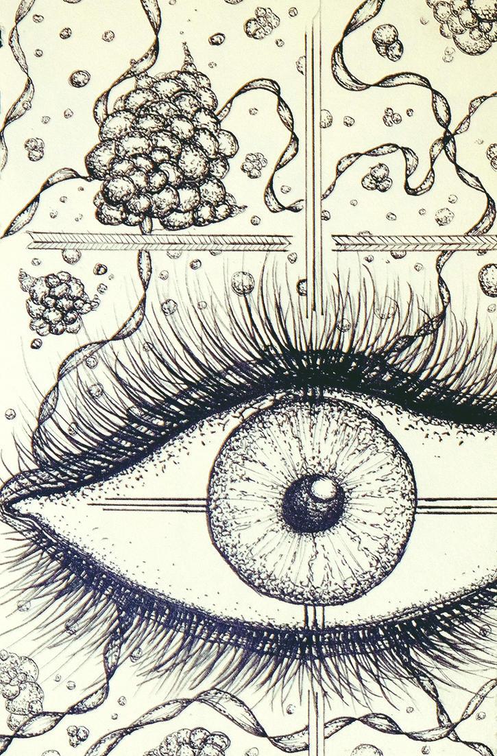 Open eye by Inkitfast