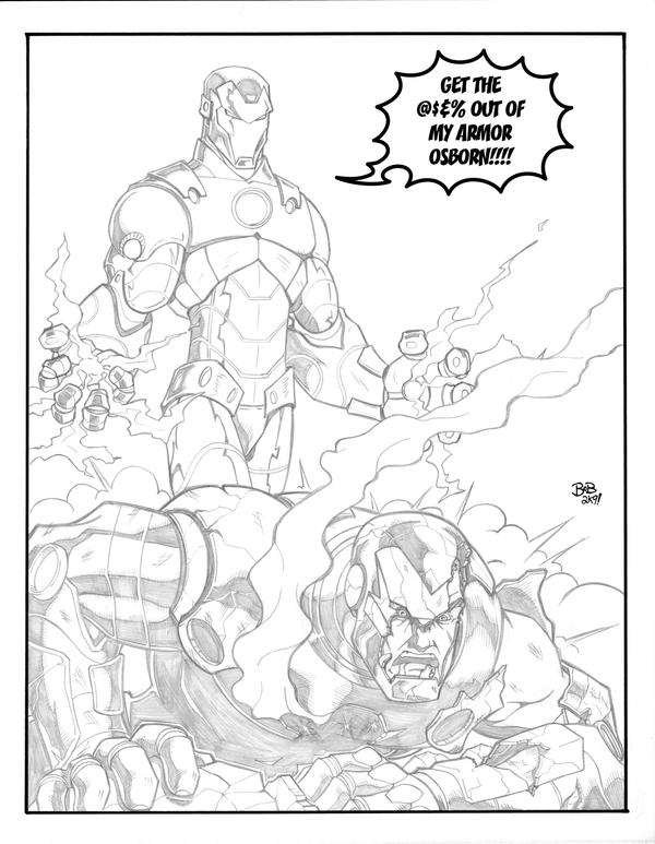 iron man vs iron patriot by sketchheavy - Iron Man Patriot Coloring Pages