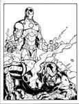 Ironman vs Iron Patriot inked