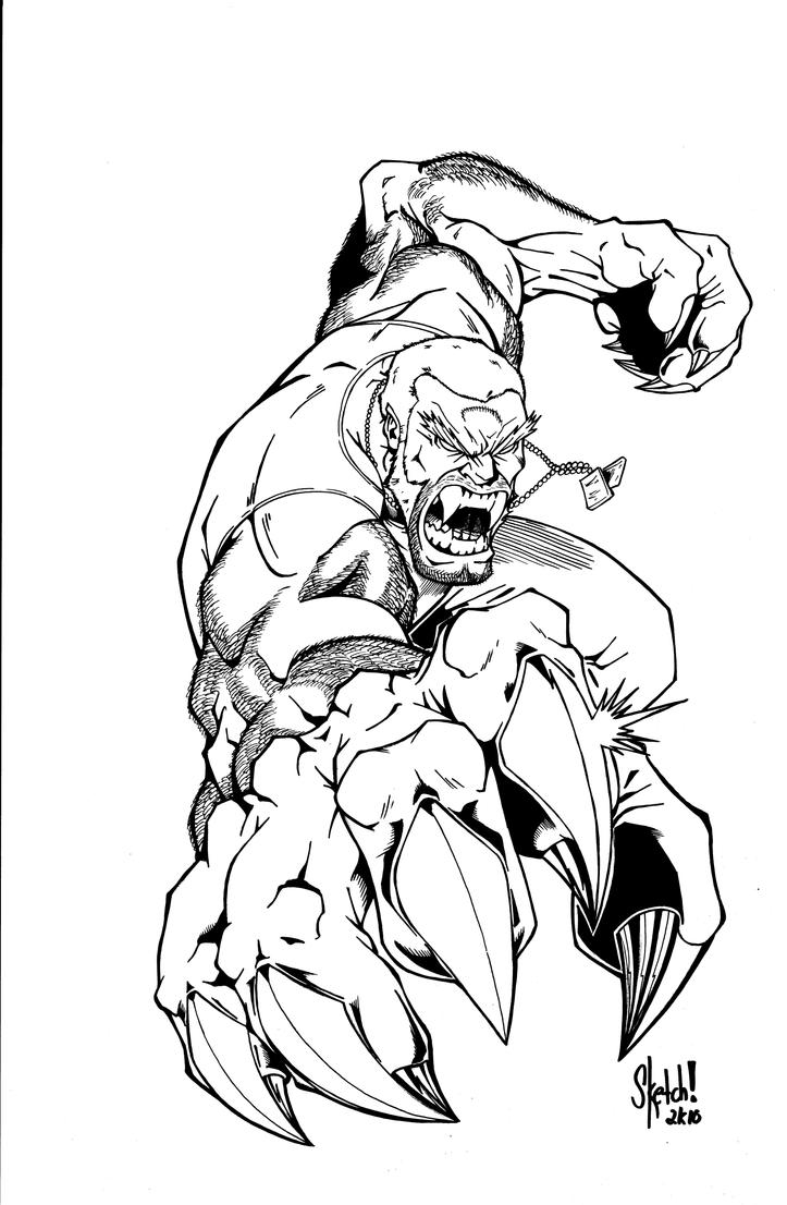 saber tooth coloring pages | Ult Sabertooth Inks by sketchheavy on DeviantArt