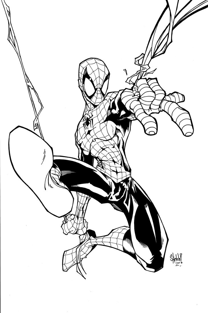 standing spiderman coloring pages | Spidy lines by sketchheavy on deviantART