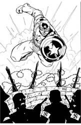 Captain America inks by sketchheavy