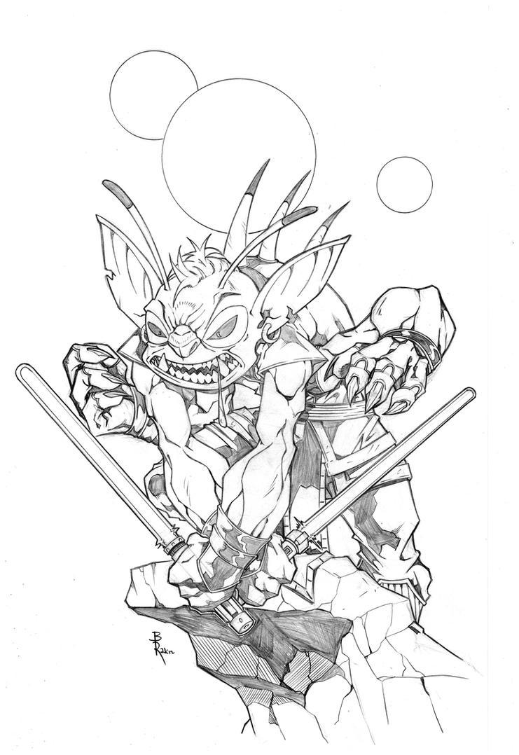 Darth Stitch by sketchheavy