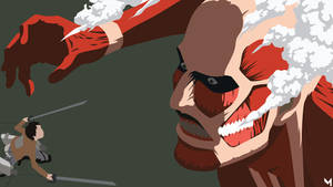 Eren Jaeger vs Titan colossal [Shingeki No Kyojin] by Martianz-Art