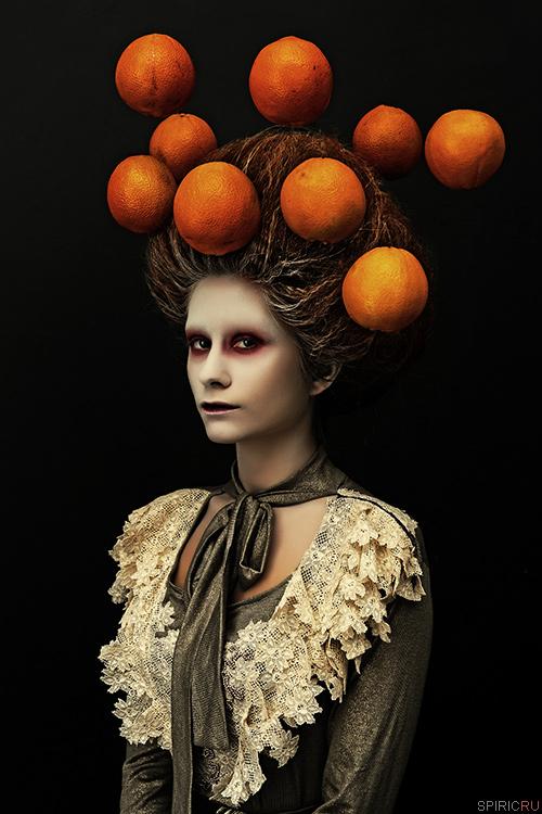 Girl And Oranges by sergeyspiric